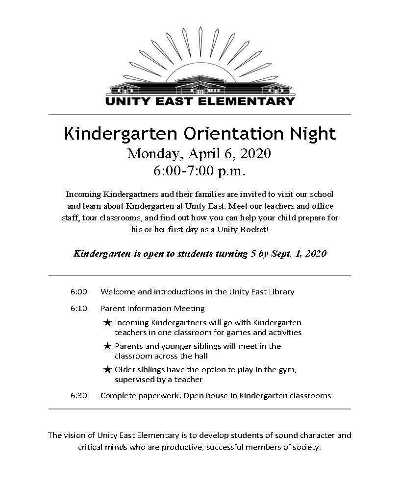 Kindergarten Orientation Night