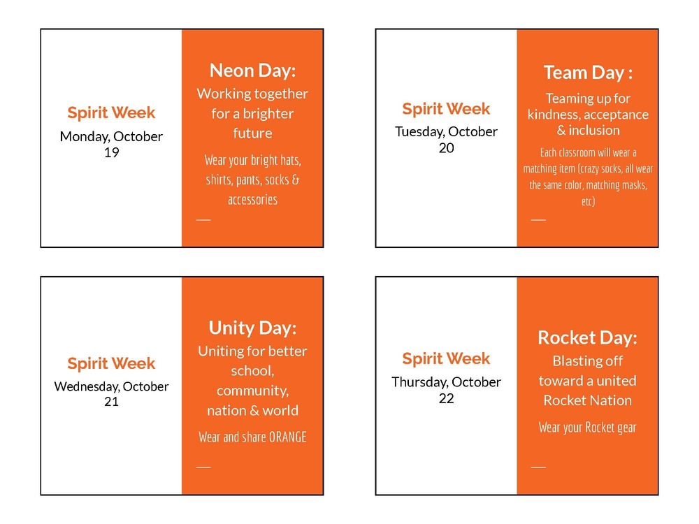 Unity Day Spirit Week
