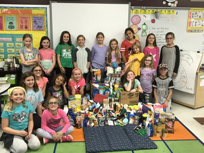 Girls on the Run Humane Society Supply Drive
