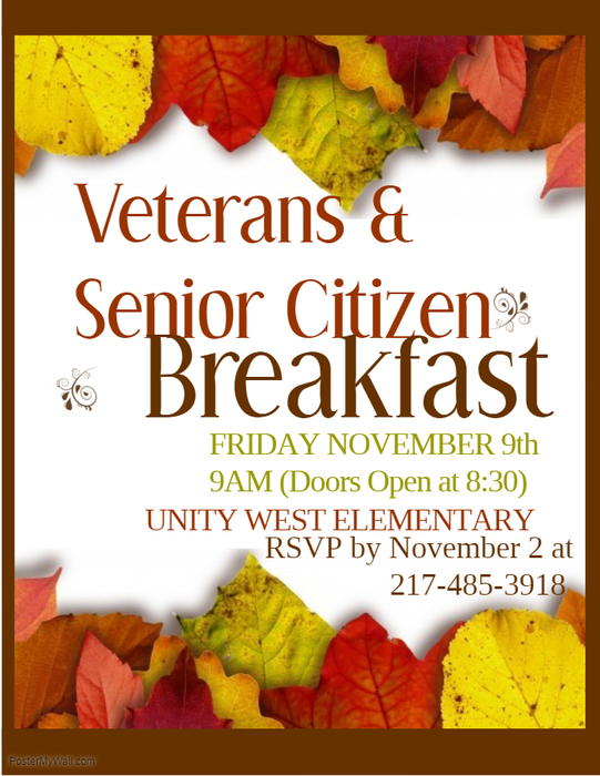 Unity West Veterans and Senior Citizens Breakfast