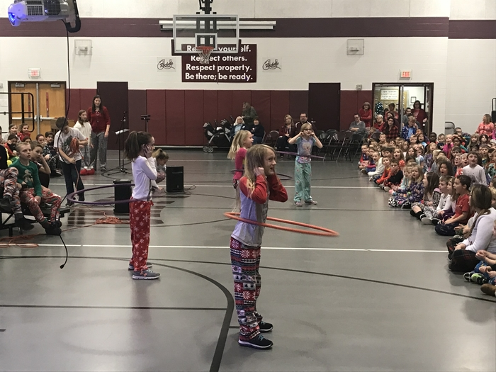 Unity West 2nd Grade Students Hula Hoop