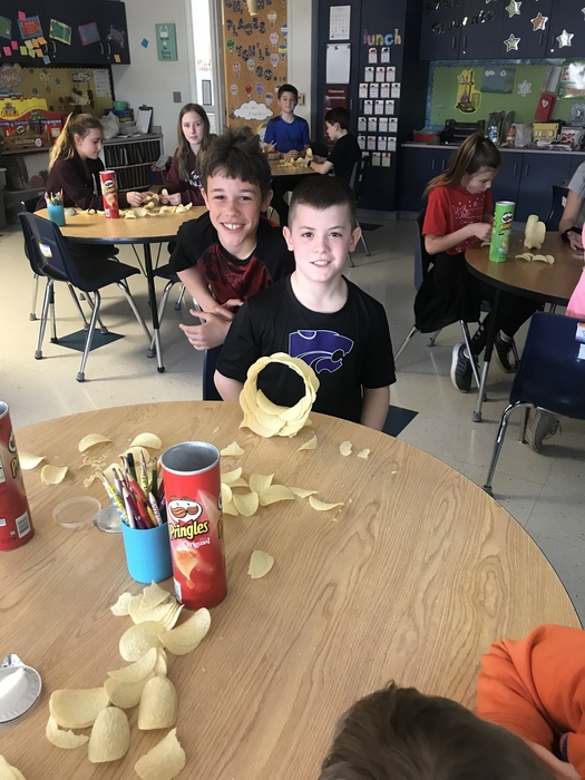 5th Graders successful Pringle Ringle
