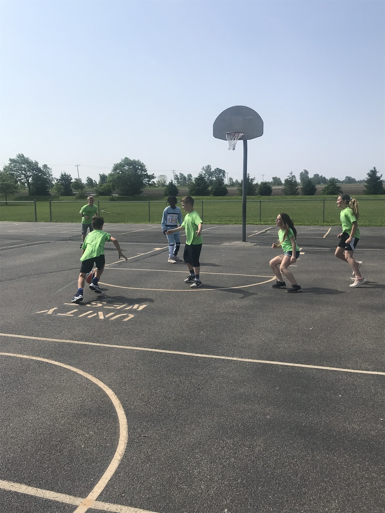 5th Grade 3 on 3 basketball action